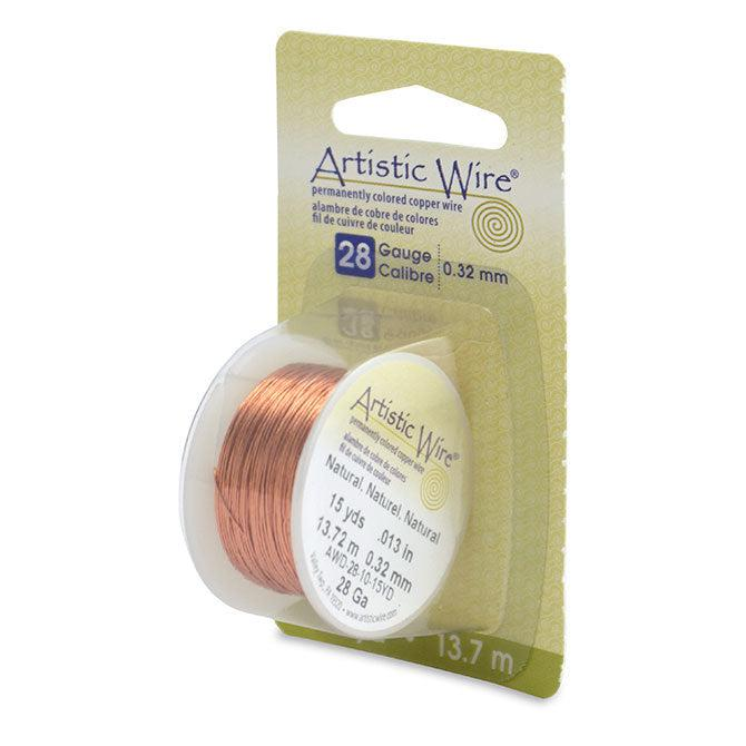 28 Gauge Natural Artistic Wire (45ft) - The Bead Chest