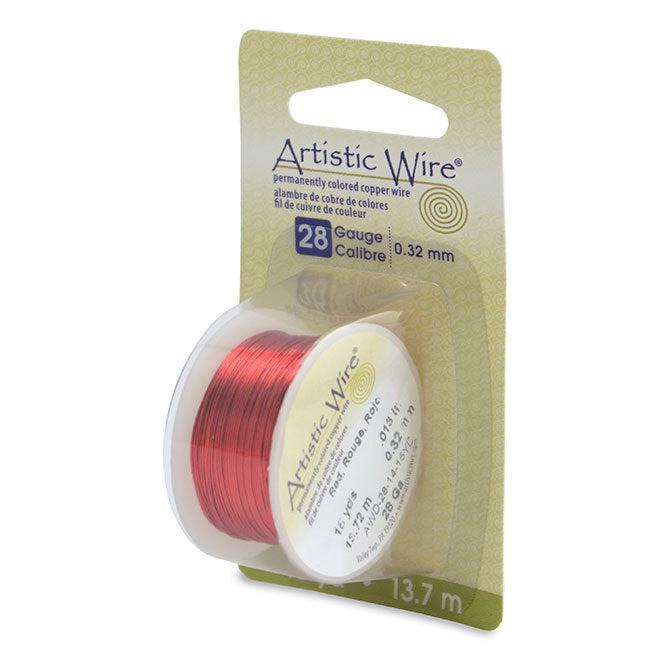 28 Gauge Red Artistic Wire (45ft) - The Bead Chest