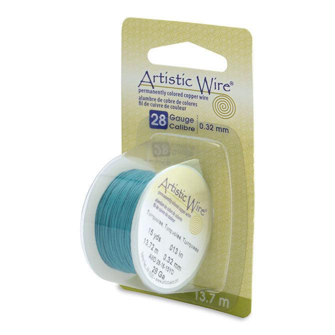 28 Gauge Turquoise Artistic Wire (45ft) - The Bead Chest