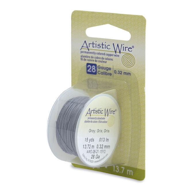 28 Gauge Grey Artistic Wire (45ft) - The Bead Chest