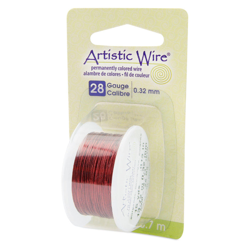 28 Gauge Burgundy Artistic Wire (45ft) - The Bead Chest