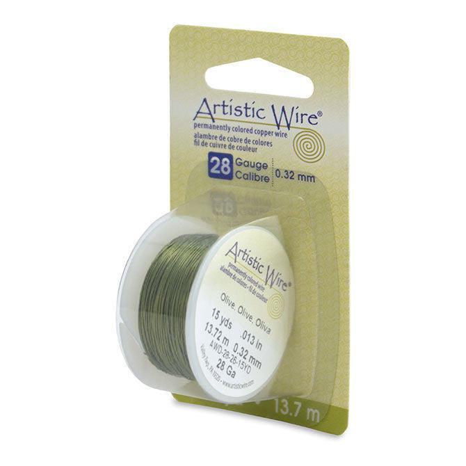 28 Gauge Olive Artistic Wire (45ft) - The Bead Chest