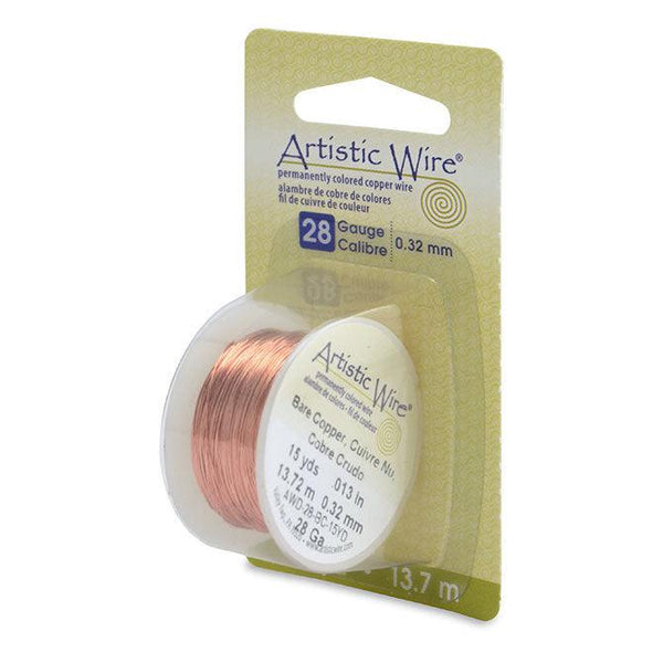 28 Gauge Bare Copper Artistic Wire (45ft)
