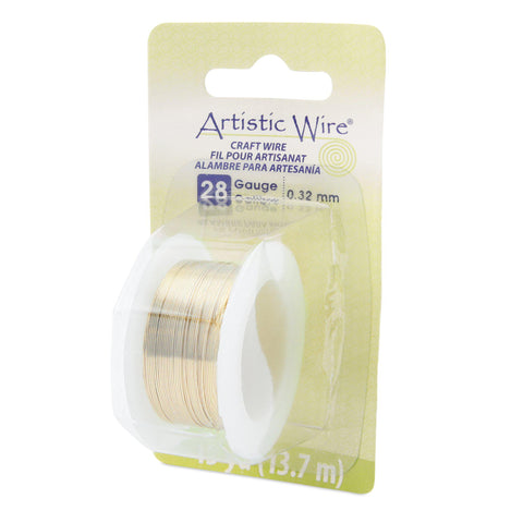 28 Gauge Tarnish Resistant Brass Artistic Wire (45ft) - The Bead Chest