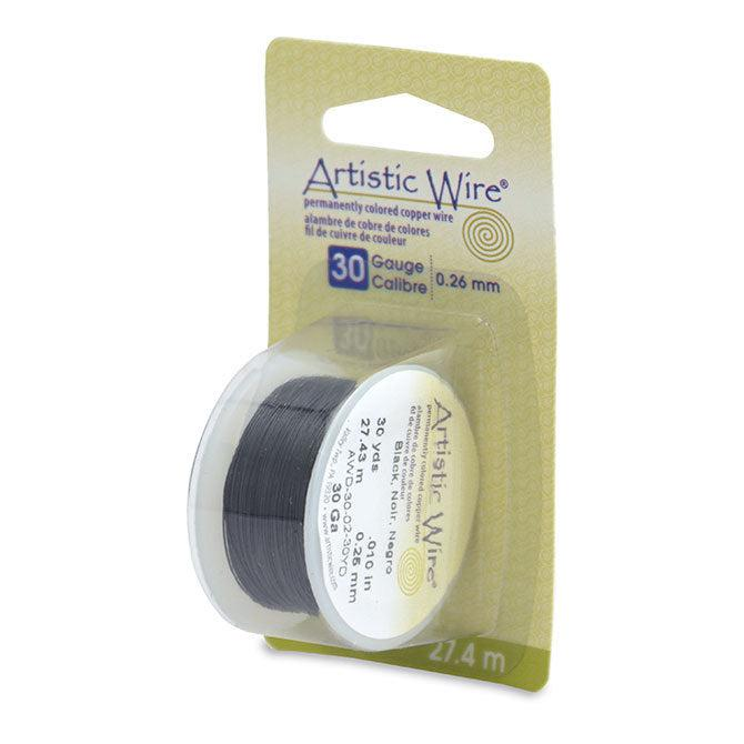 30 Gauge Black Artistic Wire (90ft) - The Bead Chest