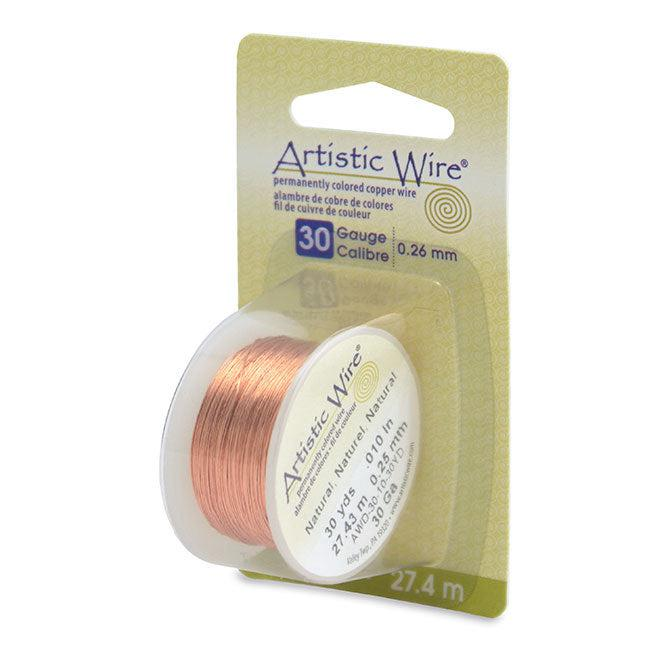 30 Gauge Natural Artistic Wire (90ft) - The Bead Chest