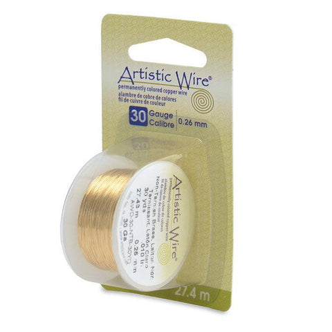 30 Gauge Tarnish Resistant Brass Artistic Wire (90ft) - The Bead Chest