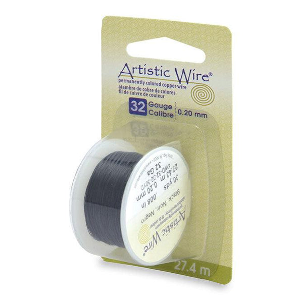 32 Gauge Black Artistic Wire (90ft) - The Bead Chest