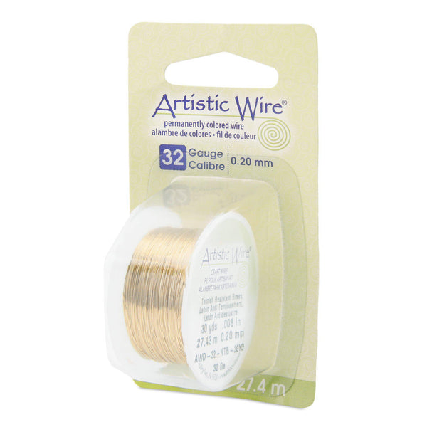 32 Gauge Tarnish Resistant Brass Artistic Wire (90ft)