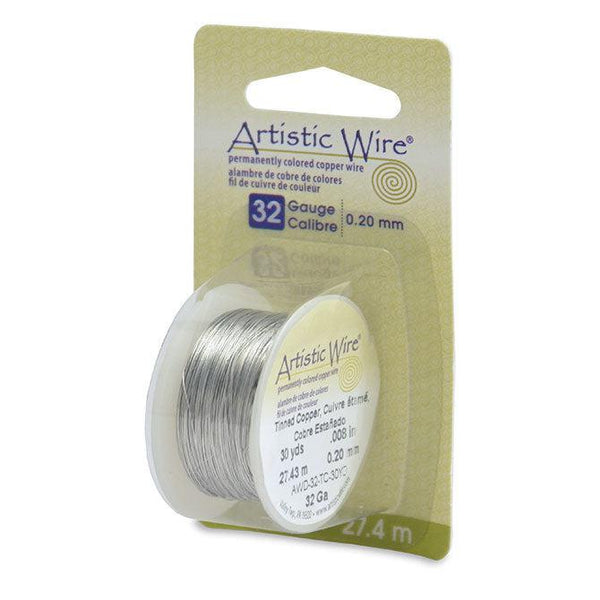 32 Gauge Tinned Copper Artistic Wire (90ft)