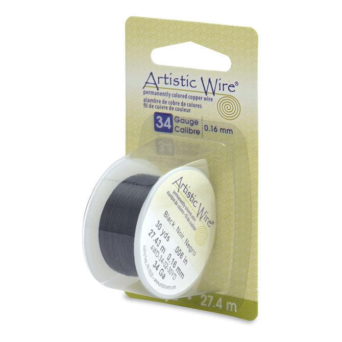 34 Gauge Black Artistic Wire (90ft) - The Bead Chest