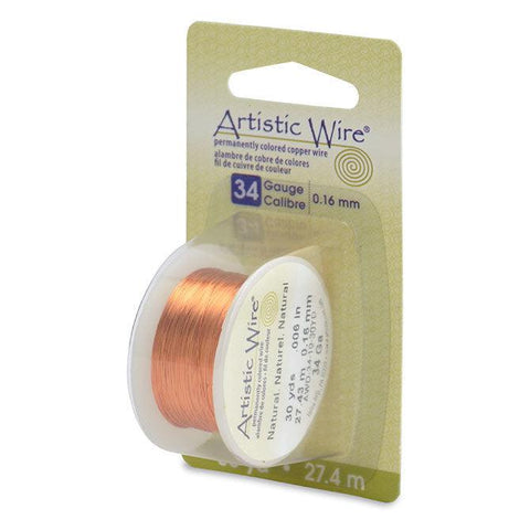 34 Gauge Natural Artistic Wire (90ft) - The Bead Chest