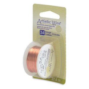 34 Gauge Bare Copper Artistic Wire (90ft) - The Bead Chest
