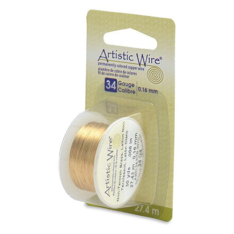 34 Gauge Tarnish Resistant Brass Artistic Wire (90ft) - The Bead Chest