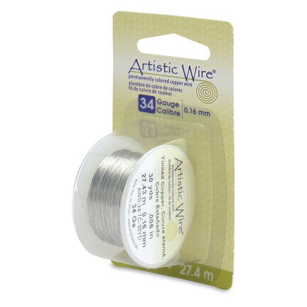 34 Gauge Tinned Copper Artistic Wire (90ft)