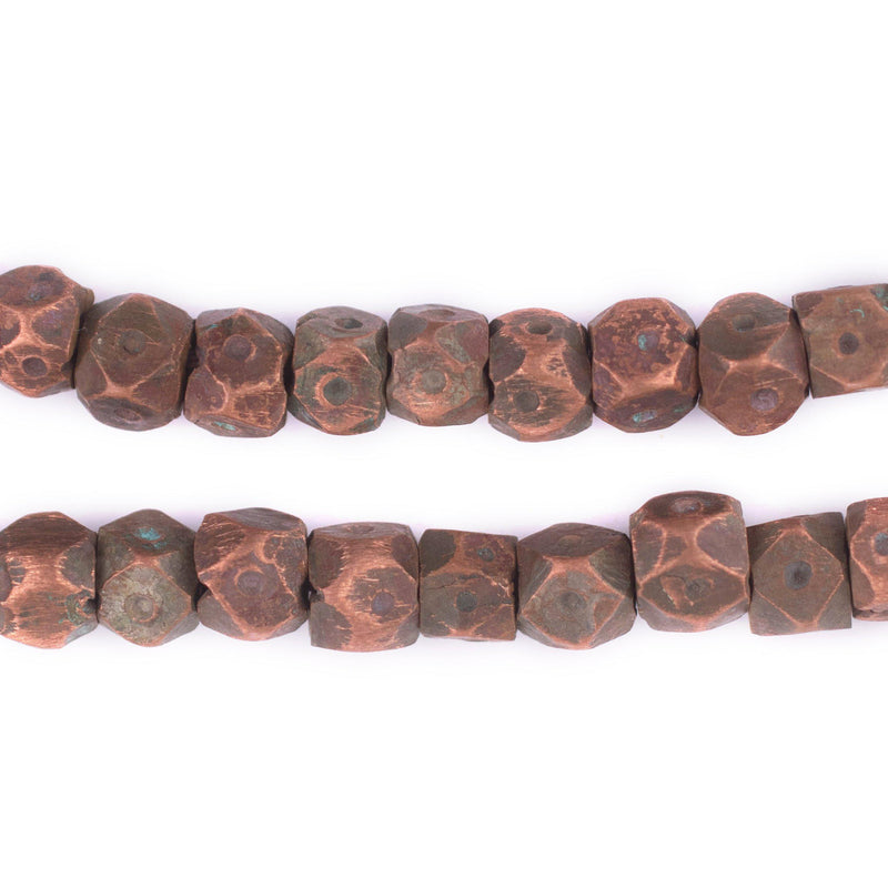 Hammered Berber Copper Beads (6x9mm)