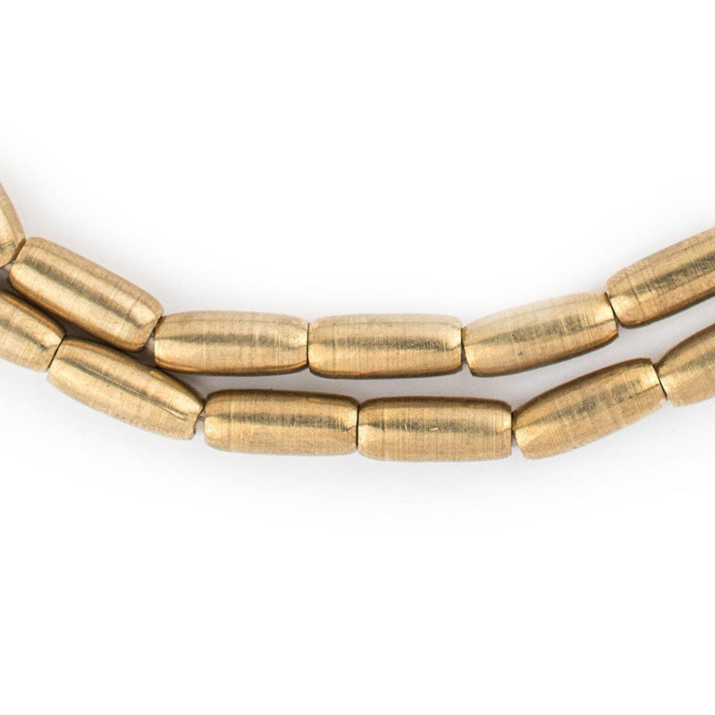 Antiqued Brass Smooth Tube Beads (12x5mm) - The Bead Chest