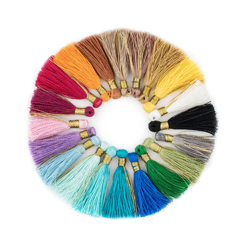 Image of Silk Tassel 3cm Variety Pack (20 Pieces) - The Bead Chest