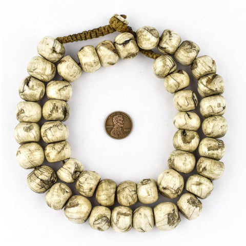 Image of Vintage Round Naga Shell Beads (17mm) - The Bead Chest