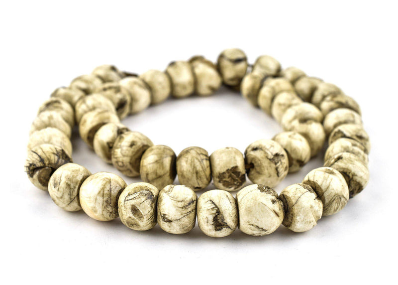 Vintage Round Naga Shell Beads (17mm) - The Bead Chest