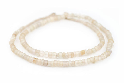 Image of Clear Old Annular Wound Dogon Beads (7mm) - The Bead Chest