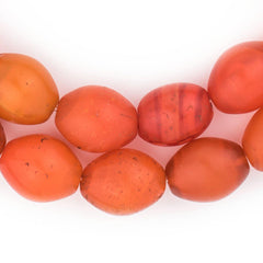 Old Ethiopian Orange Tomato Beads (20x16mm)