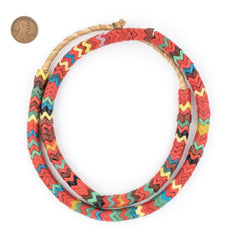 Red Medley Snake Beads (9mm)