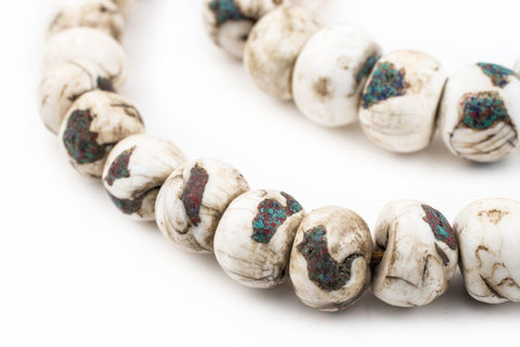 Inlaid Naga Conch Shell Beads (14mm) - The Bead Chest