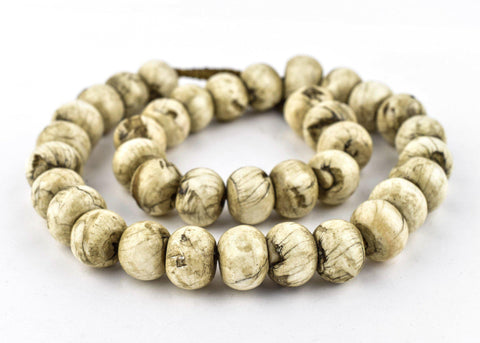Jumbo Round Naga Shell Beads (16x22mm)(Long Strand) - The Bead Chest
