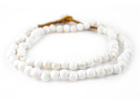Image of Spherical White Naga Conch Shell Beads (8mm) - The Bead Chest