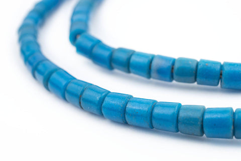 Vintage Czech Turquoise Cylinder Beads (6mm) - The Bead Chest