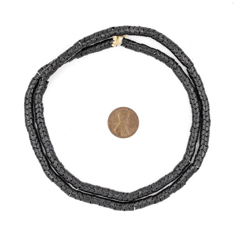 Midnight Brass Interlocking Snake Beads (6mm) - The Bead Chest