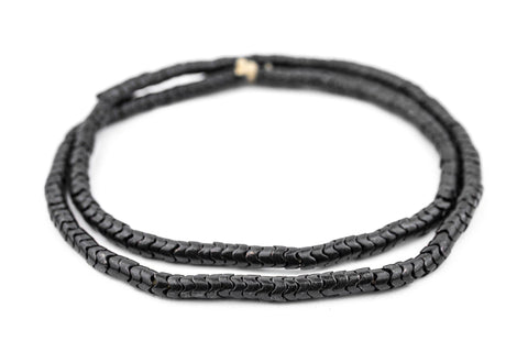 Image of Midnight Brass Interlocking Snake Beads (6mm) - The Bead Chest