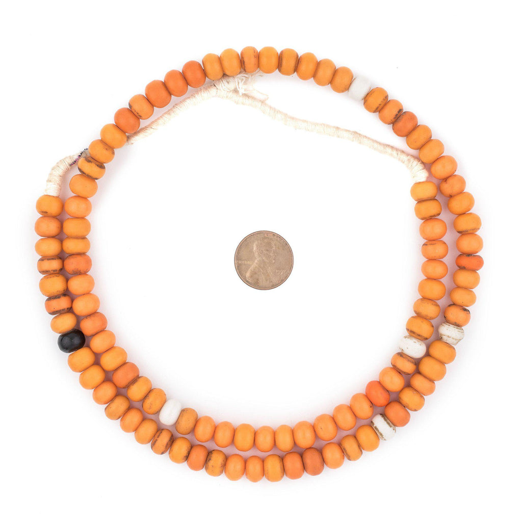 Electric Orange Binta Banji Beads - The Bead Chest
