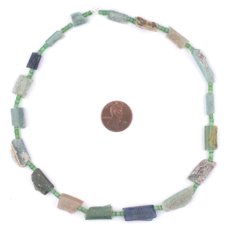 Flat Roman Glass Tube Beads - The Bead Chest