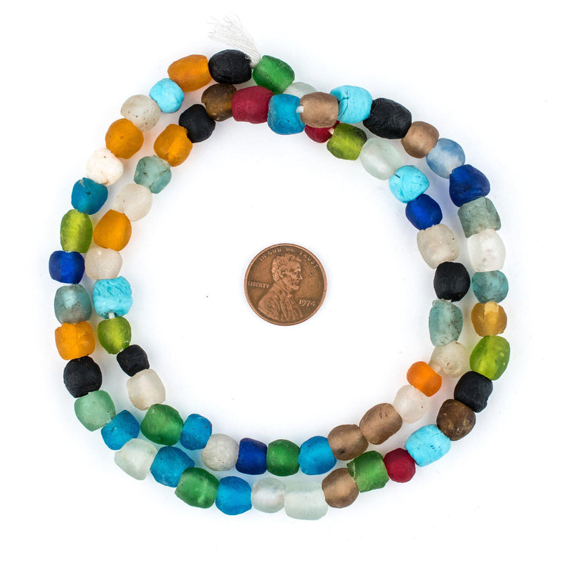 Spring Medley Recycled Glass Beads (9mm) - The Bead Chest