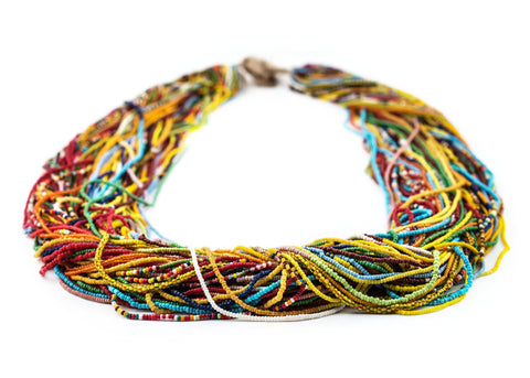 Image of Multicolor Tamba Baule Seed Bead Necklace - The Bead Chest