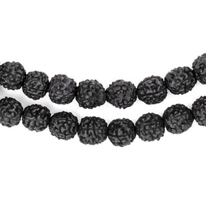 Black Rudraksha Mala Prayer Beads (8mm) - The Bead Chest