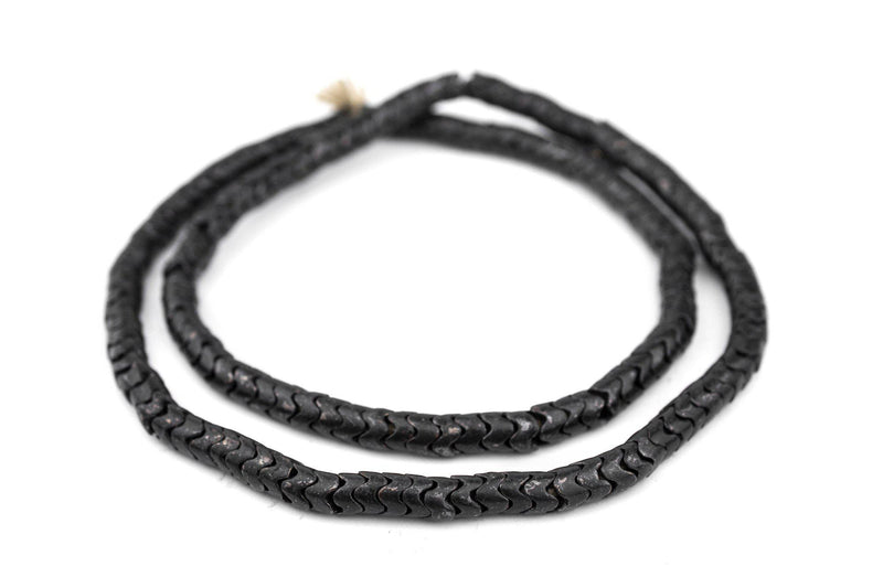 Midnight Brass Interlocking Snake Beads (7mm) - The Bead Chest