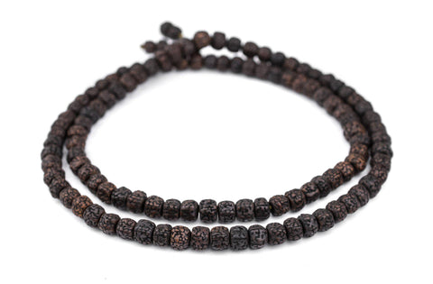 Image of Smooth Black Rudraksha Mala Prayer Beads (10mm) - The Bead Chest
