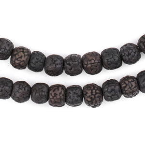Smooth Black Rudraksha Mala Prayer Beads (8mm) - The Bead Chest