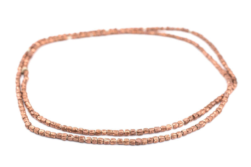 Copper Ethiopian Scratch Beads (3x4mm) - The Bead Chest