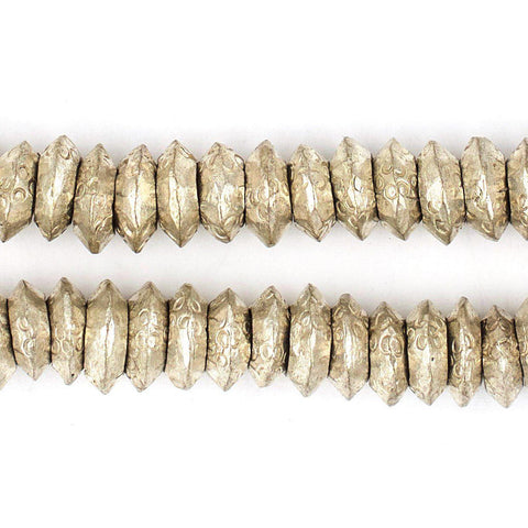 Silver Wollo Ring Beads (11mm) (100 Rings) - The Bead Chest