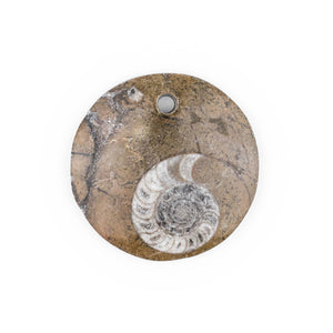 Ammonite Moroccan Fossil Pendant - The Bead Chest