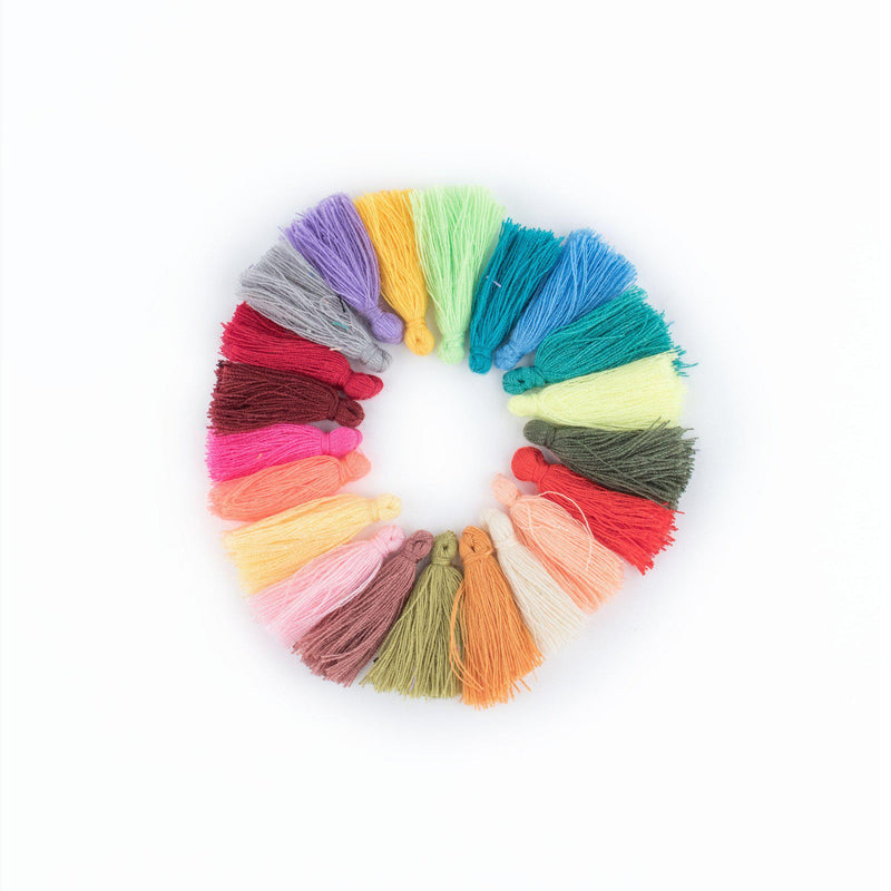 3cm Cotton Tassel Variety Pack (40 Pieces) - The Bead Chest