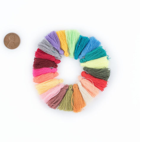 Image of 3cm Cotton Tassel Variety Pack (40 Pieces) - The Bead Chest