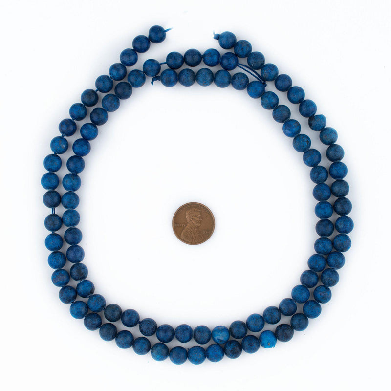 Matte Round Lapis Lazuli Beads (8mm) - The Bead Chest