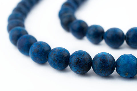 Image of Matte Round Lapis Lazuli Beads (8mm) - The Bead Chest