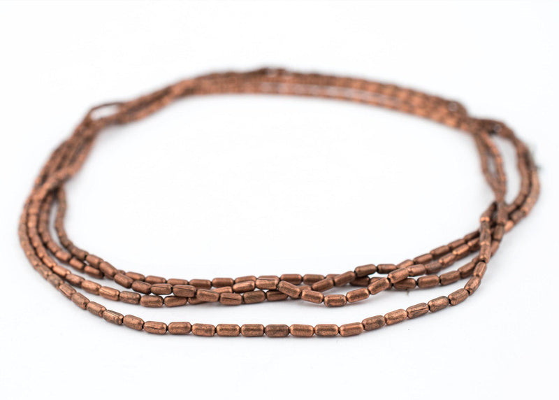 Tiny Copper Oval Beads (4x2mm) - The Bead Chest