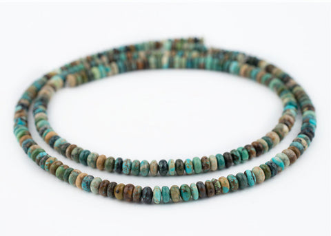 Green Turquoise Rondelle Beads (6mm) - The Bead Chest